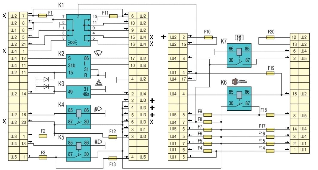 Схема монтажного блока в